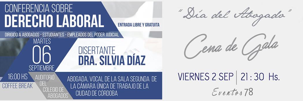Día del Abogado 2016 - Conferencia sobre Derecho Laboral y Cena de Gala