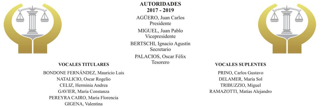 Renovación de autoridades del Colegio (2017 - 2019)