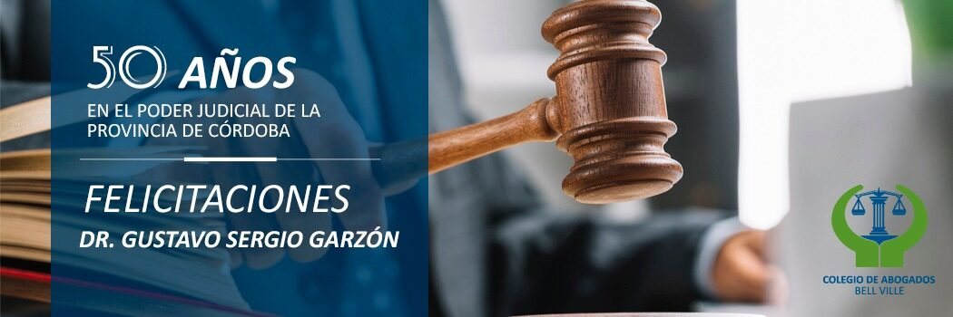 Dr. Garzón, 50 años en el Poder Judicial de Córdoba